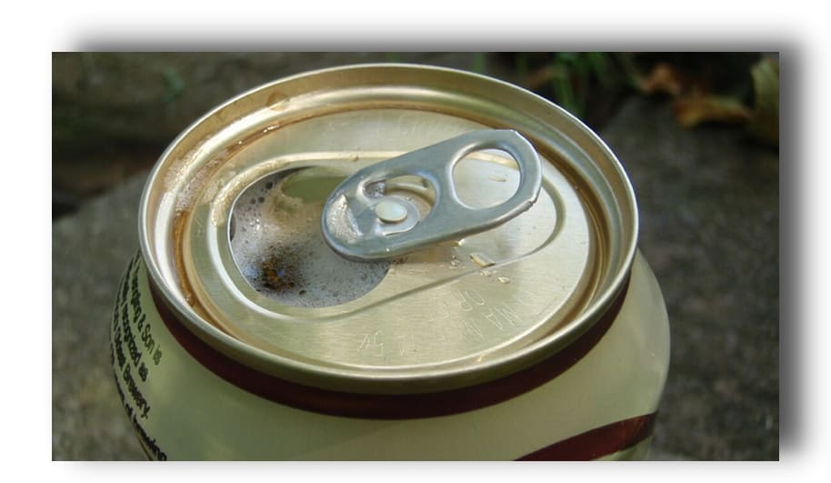 drink from a beer can
